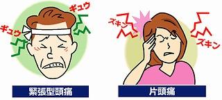 締め付けられるような痛みがいつまでも続く・・ 緊張型頭痛の特徴です。