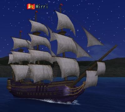夜の戦列艦