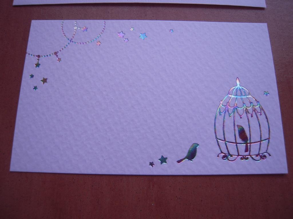 セリアの鳥モチーフカード☆ 1