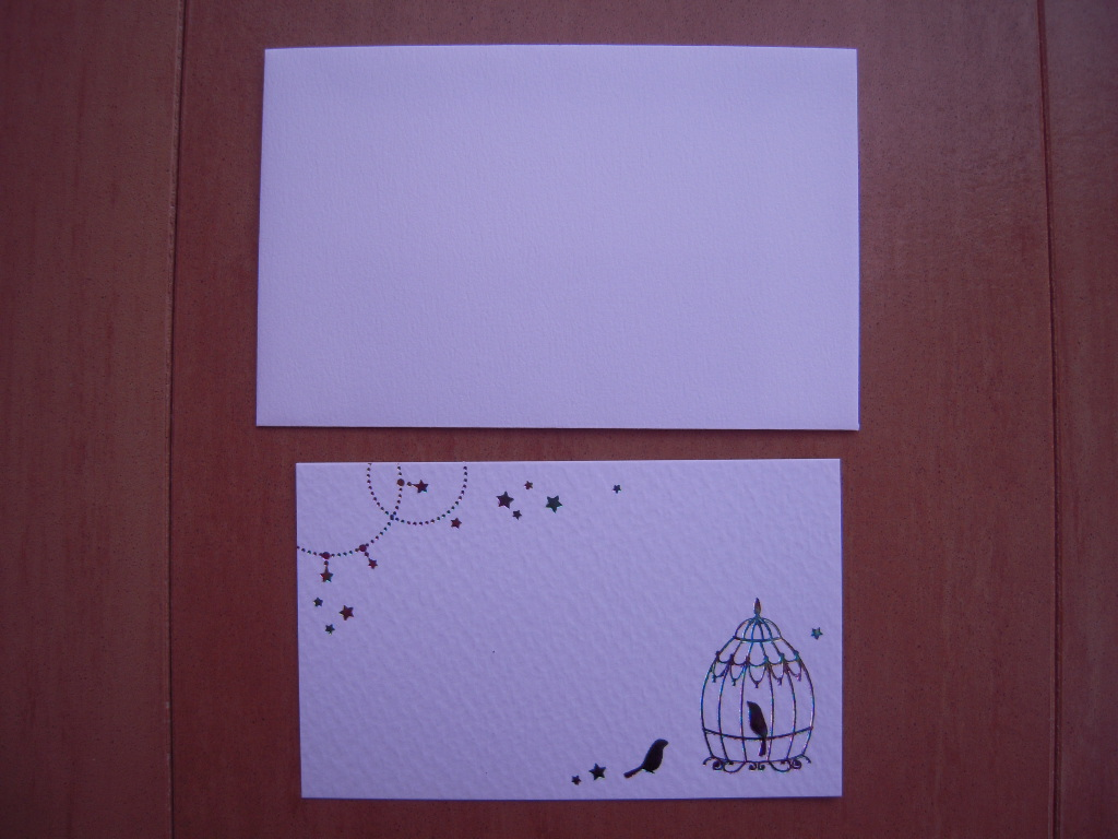 セリアの鳥モチーフカード☆ 2