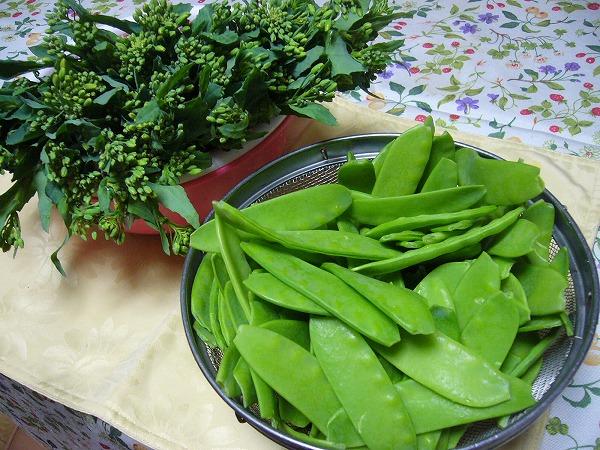 菜花とエンドウ