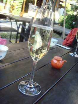 シャンパンで乾杯♪