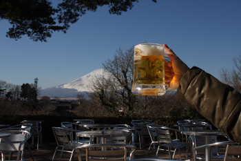 富士山とビール♪
