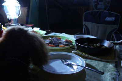 夕食でしゅ