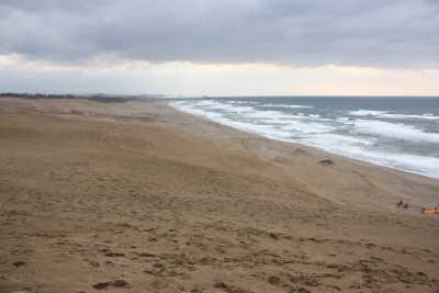 砂丘と日本海