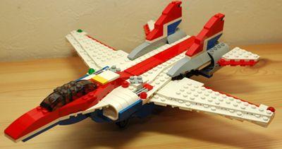 LEGO 可変後退翼機 翼開前_R
