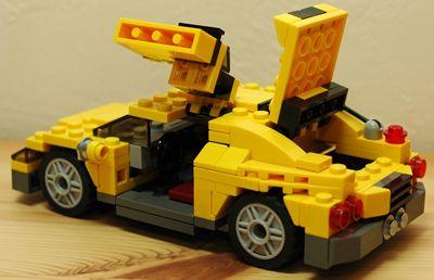 LEGO スポーツカー全開_R