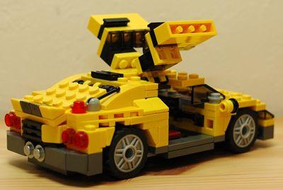 LEGO スポーツカーガルウィング後ろ_R