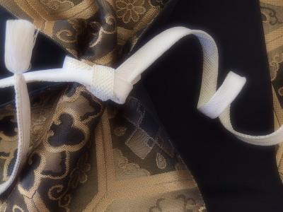 留袖にも締められる礼装用の帯。帯締めは道明さんのもの。