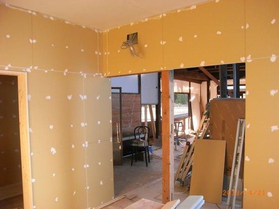 厨房の壁下地