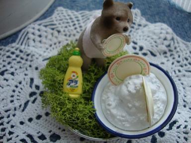 お皿洗いクマさん