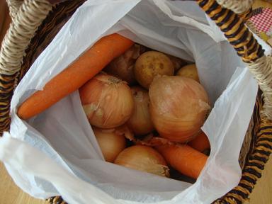お祭りで買った野菜