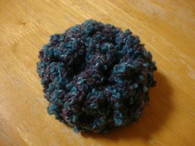 編みコサージュ