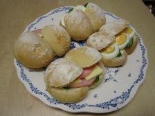 白パン サンドイッチ
