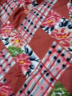 2,7薔薇とチェックの羽織CABALHWB