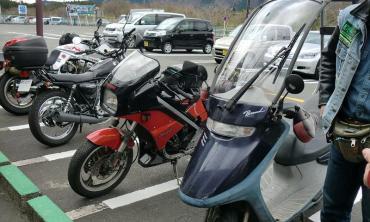 2012年 KROG東海ミーティング 朝霧高原ドライブインもちや カワサキKR250 ホンダ キャビーナ グラストラッカー・ビッグボーイ