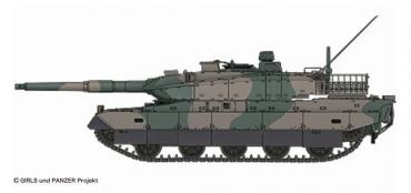 10式戦車1/35TAMIYA ガールズパンツァー(GIRLS und PANZER)