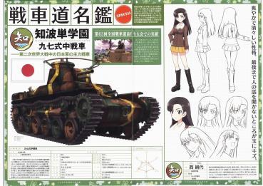 ガールズパンツァー 知波単学園 西絹代 九七式中戦車