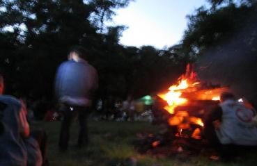 キャンプファイヤー 十和田湖