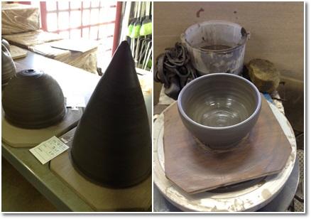 灯りと抹茶碗