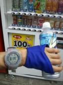 20キロ100円自販機で給水