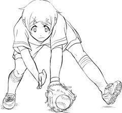 【図】1.捕球直前