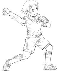 【図】4.前への体重移動と投げ始め