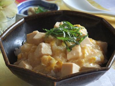 豆腐の卵とじ 生姜あんかけごはん(400)
