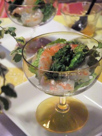菜の花とエビのカクテルサラダ(350)