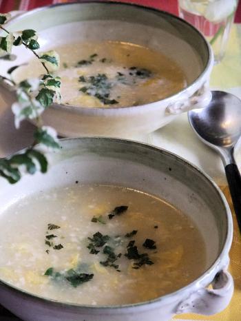 くずし豆腐と長いものとろとろスープ(350)