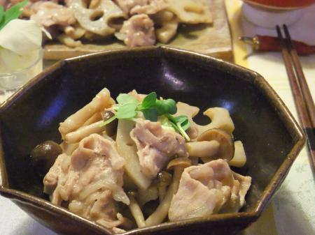 豚肉とれんこんの梅照り炒め(450)