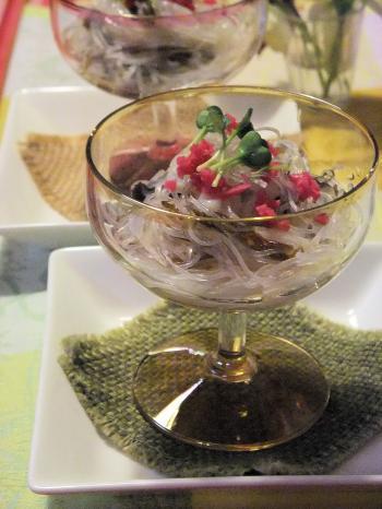イカそうめんと春雨のつるつるサラダ麺(350)