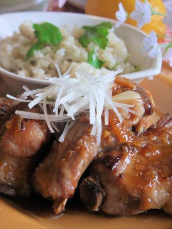 豚肉のスペアリブのマーマレードソース(350)