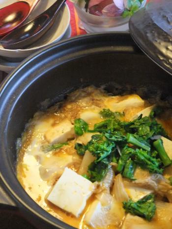 白菜と豆腐のうまうま塩麹蒸し 土鍋仕立て(350)