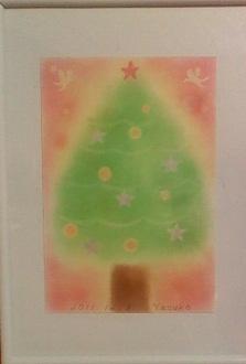 パステルアート(クリスマスツリー)