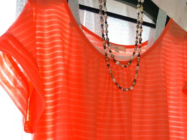 夏オレンジの装い