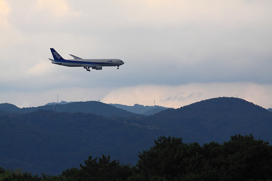 ANA B767-381 ANA31@昆陽池公園(by EOS50D with SIGMA APO 300mm F2.8 EX DG/HSM)
