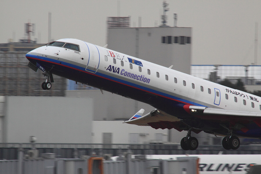 IBX CRJ700 IBX51@RWY14Rエンド猪名川土手(by EOS 50D with SIGMA APO 300mm F2.8 EX DG HSM + APO TC2x EX DG + APO TC1.4x EX DG)