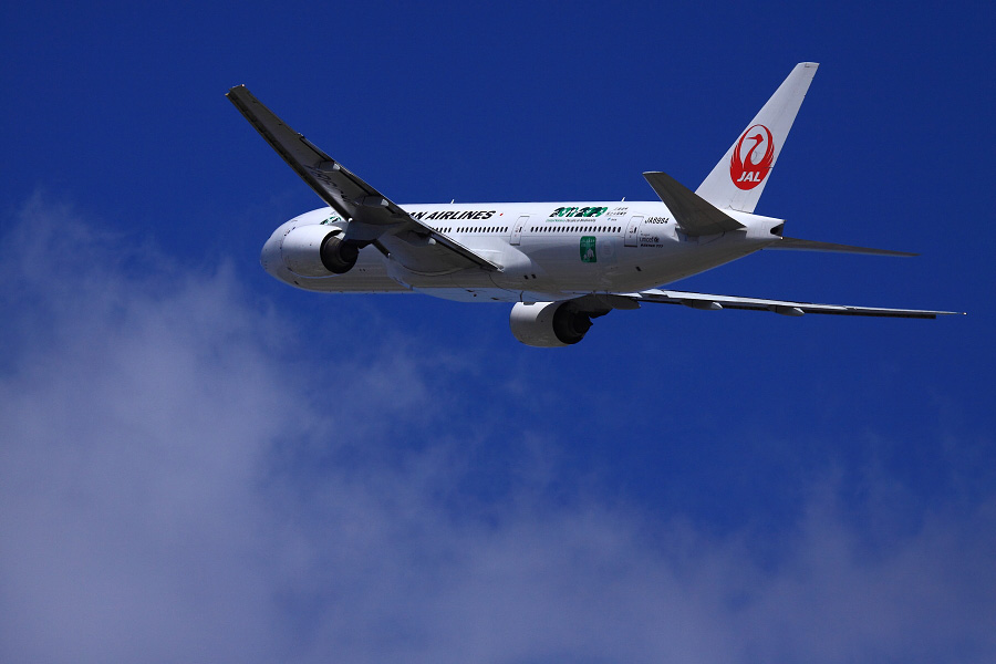 JAL B777-246 JAL114@リサイクルセンター周辺(by EOS 50D with EF100-400mm F4.5-5.6L IS USM)