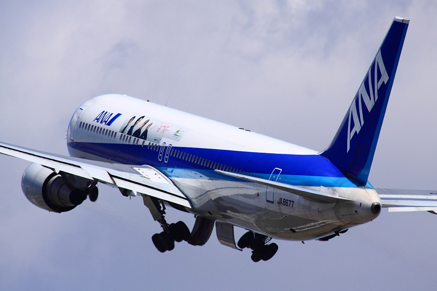 ANA B767-381 ANA733@伊丹スカイパーク(by EOS 50D with SIGMA APO 300mm F2.8 EX DG HSM + APO TC2x EX DG)