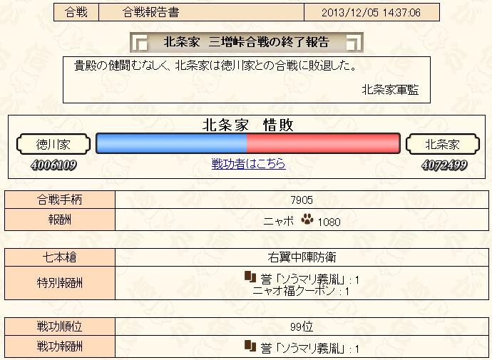 12-1合戦報告書