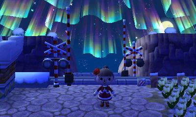 クリスマス前夜のオーロラ