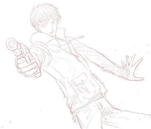 撃つ―下絵
