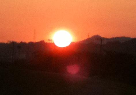 大晦日の夕焼け