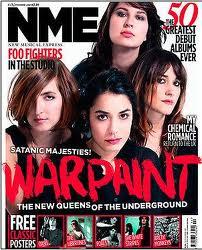 Warpaint NME表紙