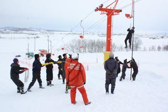 20111222高穂スキー場救助訓練