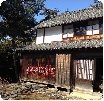 須坂アートパーク建物縁側