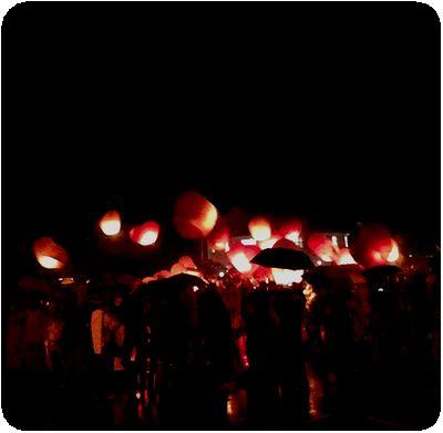 平渓天灯祭り2はじめ