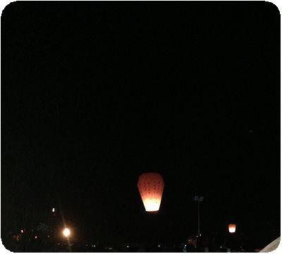 平渓天灯祭り最後