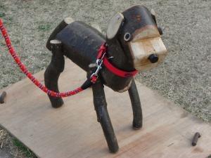 木の犬縮小